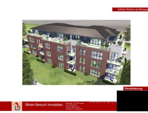 Neubau-Erstbezug hochwertige 3- Zimmerwohnung mit Terrasse in Toplage